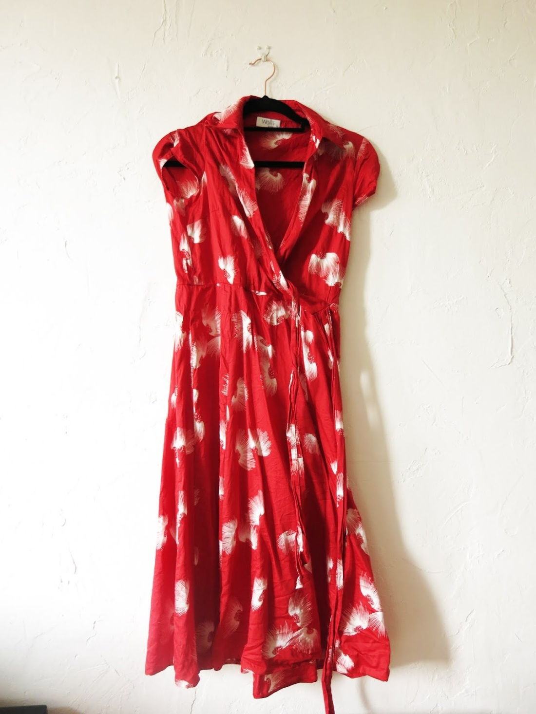vintage red fabric dress