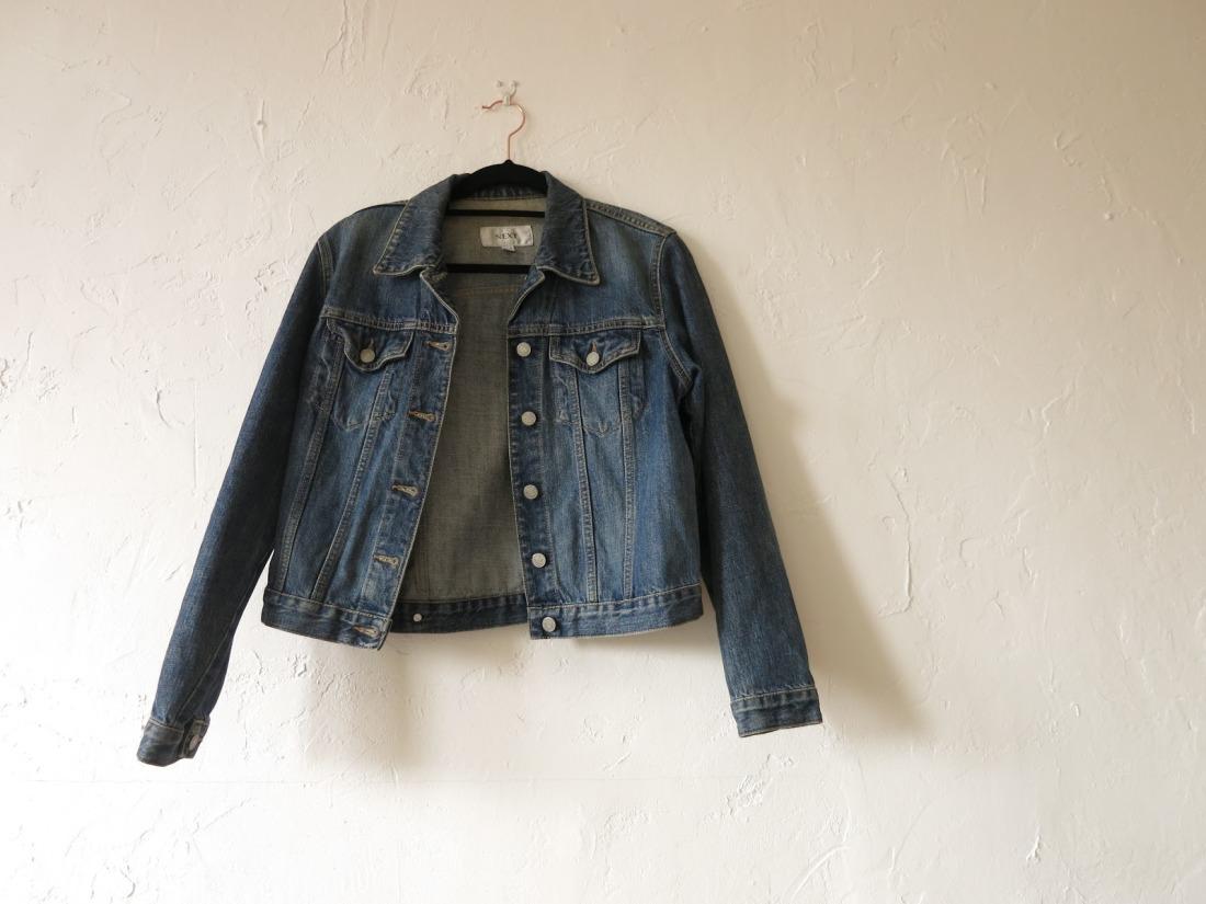 second-hand denim jacket
