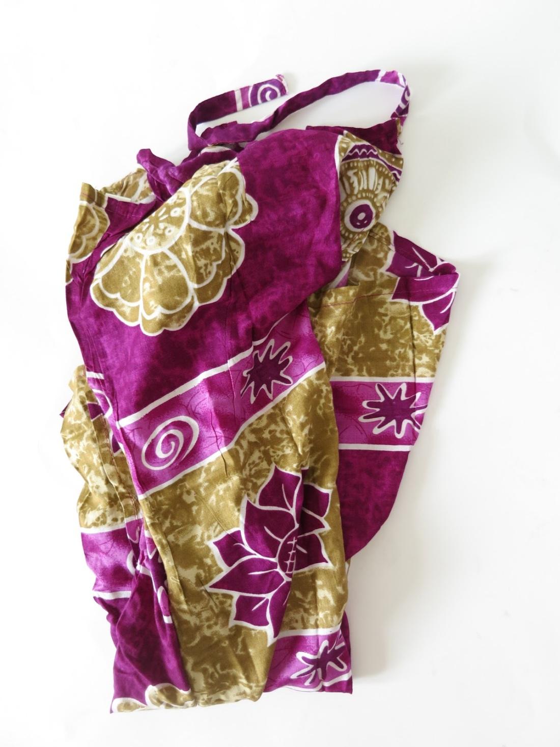 tie-dye fabric trousers