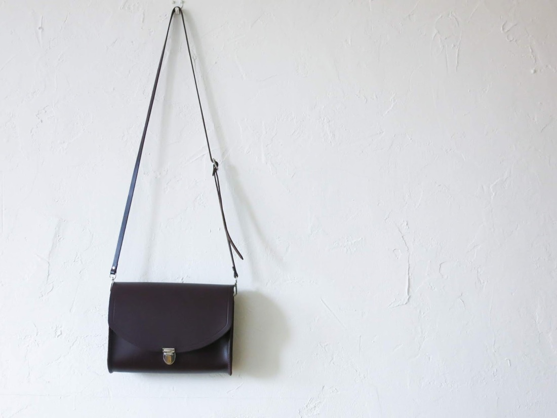 cambridge satchel cross body bag purple