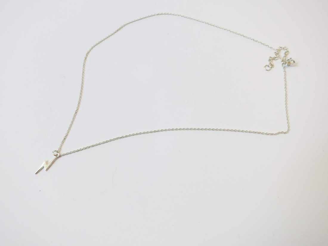 sterling silver lightening bolt necklace