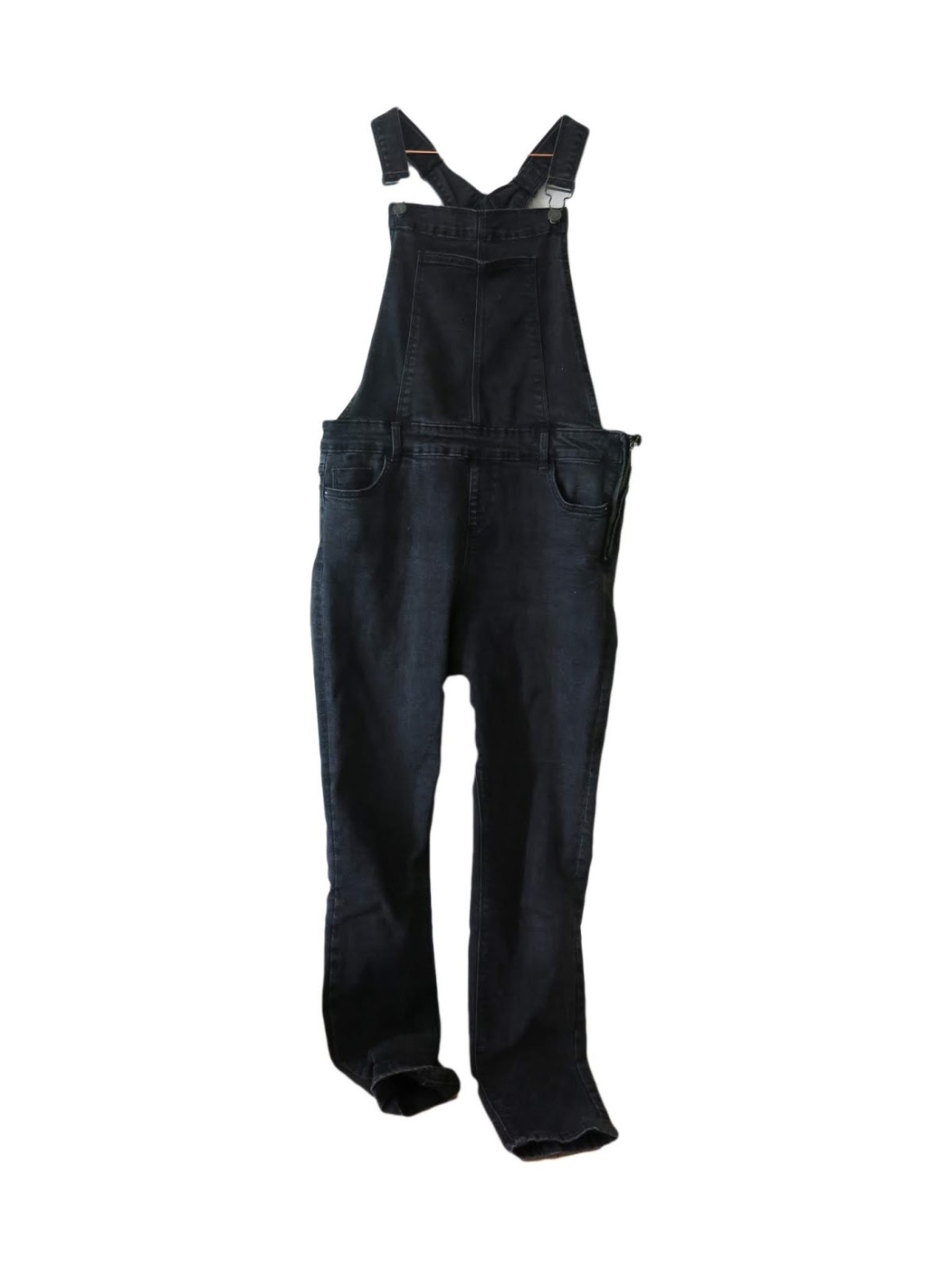 charcoal wash denim dungarees