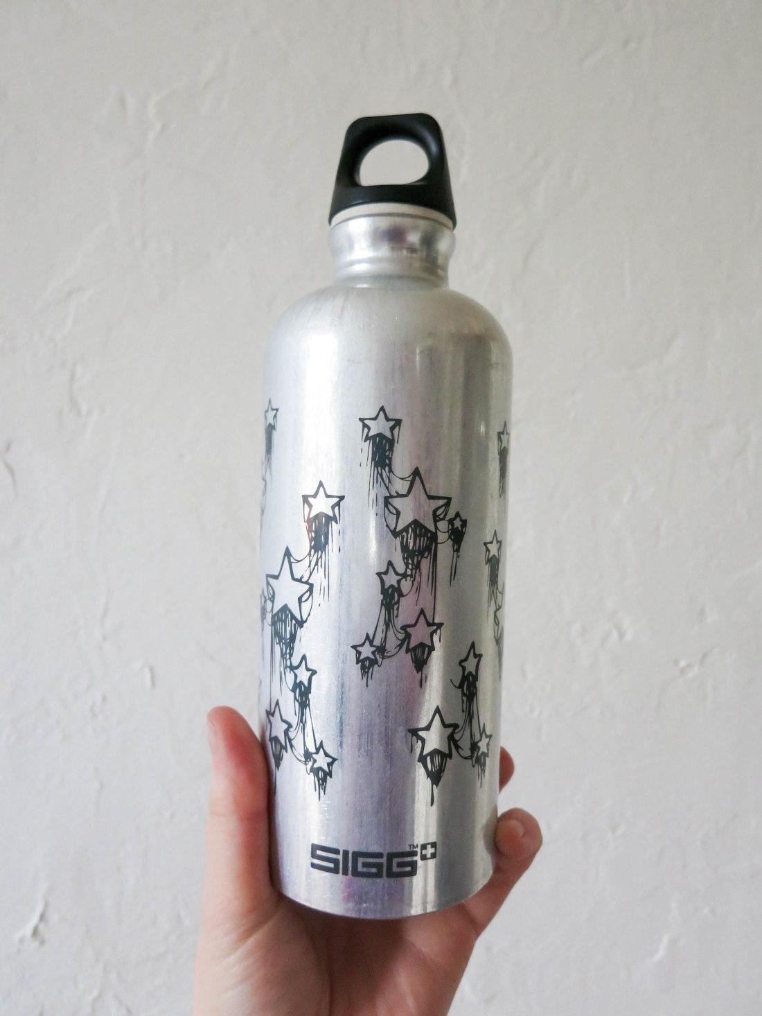 Sustainable living aluminium water bottle